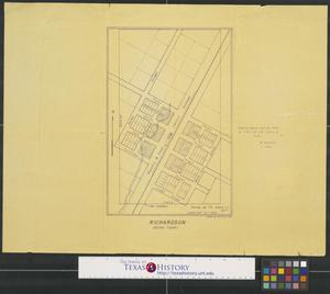 Primary view of object titled '[Map of] Richardson, Dallas County'.