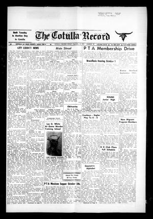 The Cotulla Record (Cotulla, Tex.), Vol. 77, No. 31, Ed. 1 Friday, September 28, 1973