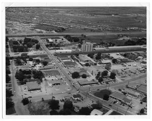 Primary view of object titled 'Aerial View of Downtown Richardson'.