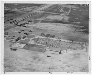 Primary view of object titled '[Aerial view of Nessler pool in the early 1950s]'.