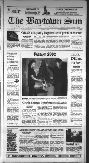 Primary view of object titled 'The Baytown Sun (Baytown, Tex.), Vol. 81, No. 6, Ed. 1 Monday, December 2, 2002'.