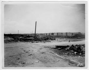 Primary view of [Damaged freight cars after the 1947 Texas City Disaster]