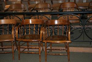 Primary view of object titled '1891 Colorado County Courthouse Chairs'.