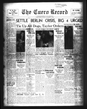Primary view of The Cuero Record (Cuero, Tex.), Vol. 54, No. 253, Ed. 1 Sunday, November 14, 1948