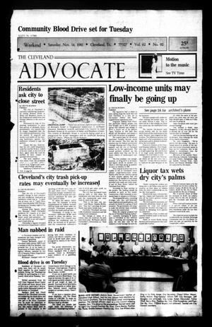 Primary view of The Cleveland Advocate (Cleveland, Tex.), Vol. 62, No. 92, Ed. 1 Saturday, November 14, 1981