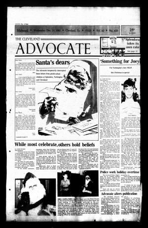 Primary view of The Cleveland Advocate (Cleveland, Tex.), Vol. 62, No. 103, Ed. 1 Wednesday, December 23, 1981