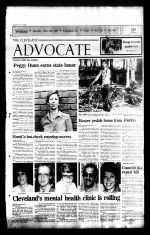 Primary view of The Cleveland Advocate (Cleveland, Tex.), Vol. 62, No. 96, Ed. 1 Saturday, November 28, 1981
