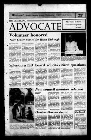 Primary view of The Cleveland Advocate (Cleveland, Tex.), Vol. 63, No. 95, Ed. 1 Saturday, November 27, 1982