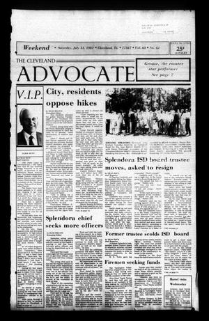 Primary view of The Cleveland Advocate (Cleveland, Tex.), Vol. 63, No. 62, Ed. 1 Saturday, July 31, 1982
