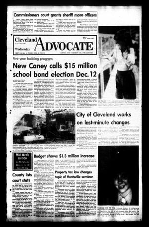 Primary view of Cleveland Advocate (Cleveland, Tex.), Vol. 62, No. 75, Ed. 1 Wednesday, September 16, 1981