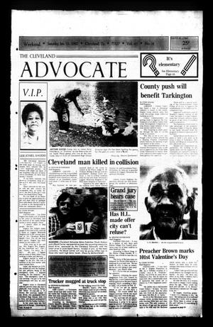 Primary view of The Cleveland Advocate (Cleveland, Tex.), Vol. 63, No. 14, Ed. 1 Saturday, February 13, 1982