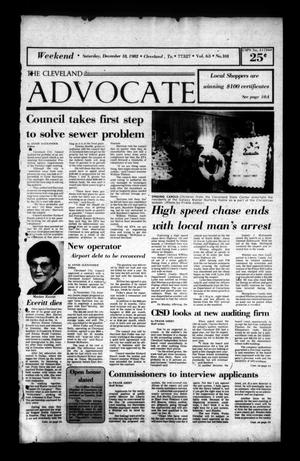 The Cleveland Advocate (Cleveland, Tex.), Vol. 63, No. 101, Ed. 1 Saturday, December 18, 1982