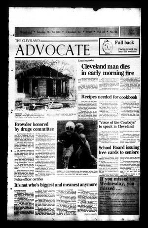 The Cleveland Advocate (Cleveland, Tex.), Vol. 62, No. 86, Ed. 1 Saturday, October 24, 1981