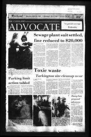 The Cleveland Advocate (Cleveland, Tex.), Vol. 64, No. 35, Ed. 1 Saturday, April 30, 1983