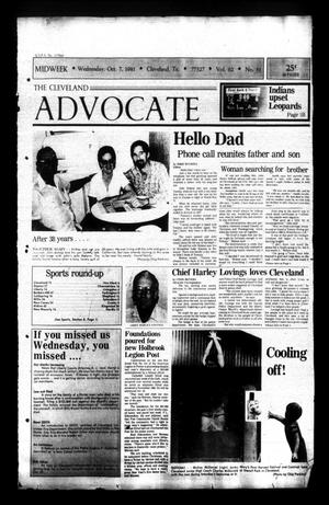 Primary view of The Cleveland Advocate (Cleveland, Tex.), Vol. 62, No. 81, Ed. 1 Wednesday, October 7, 1981