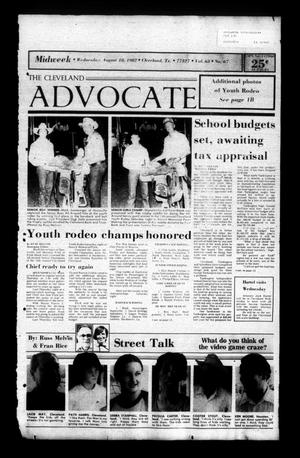 The Cleveland Advocate (Cleveland, Tex.), Vol. 63, No. 67, Ed. 1 Wednesday, August 18, 1982