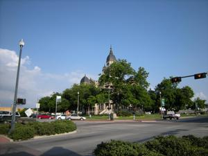 Primary view of object titled '1896 Denton County Courthouse North East Corner'.