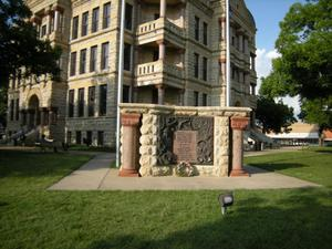 Primary view of object titled 'Veteran's Memorial On South West Courthouse Lawn'.