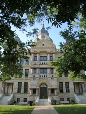 1896 Denton County Courthouse South Entrance