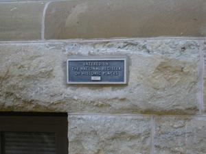 Primary view of object titled '1896 Denton County Courthouse National Register Plaque'.