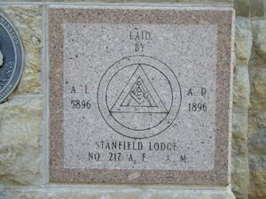 1896 Denton County Courthouse Masonic Cornerstone