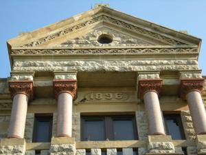 Primary view of object titled '1896 Denton County Courthouse Upper Detail'.
