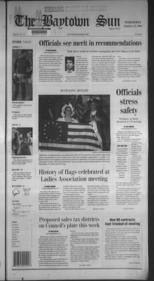 Primary view of The Baytown Sun (Baytown, Tex.), Vol. 85, No. 75, Ed. 1 Wednesday, February 22, 2006