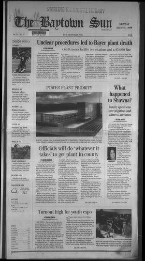 Primary view of object titled 'The Baytown Sun (Baytown, Tex.), Vol. 85, No. 37, Ed. 1 Sunday, January 15, 2006'.