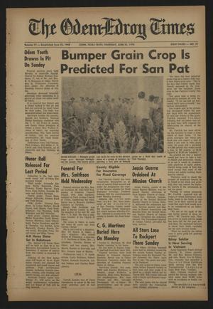 The Odem-Edroy Times (Odem, Tex.), Vol. 19, No. 35, Ed. 1 Thursday, June 25, 1970