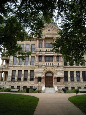 Primary view of object titled '1896 Denton County Courthouse Lower Detail'.