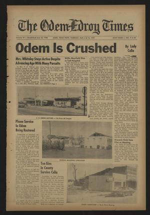 The Odem-Edroy Times (Odem, Tex.), Vol. 19, No. 41, Ed. 1 Thursday, August 6, 1970