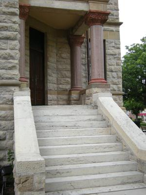 Primary view of object titled '1896 Denton County Courthouse  Inside Corner Entrance'.