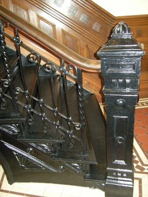 Primary view of object titled '[Staircase Railing]'.