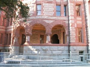 Primary view of object titled '1895 Ellis County Courthouse Typical Entrance'.
