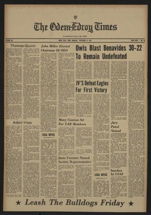 The Odem-Edroy Times (Odem, Tex.), Vol. 21, No. 38, Ed. 1 Thursday, September 21, 1972