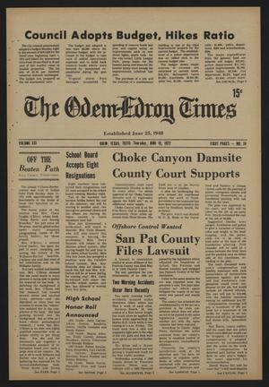 The Odem-Edroy Times (Odem, Tex.), Vol. 21, No. 24, Ed. 1 Thursday, June 15, 1972