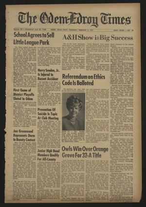 The Odem-Edroy Times (Odem, Tex.), Vol. 20, No. 12, Ed. 1 Thursday, February 4, 1971