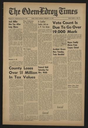 The Odem-Edroy Times (Odem, Tex.), Vol. 19, No. 17, Ed. 1 Thursday, February 12, 1970