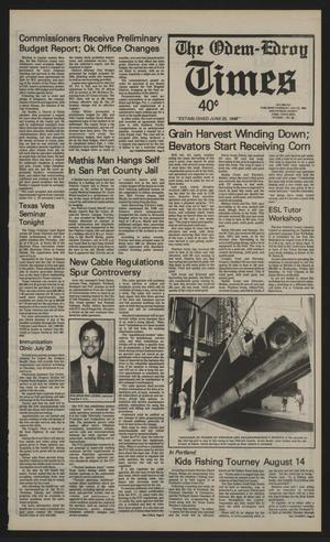 The Odem-Edroy Times (Odem, Tex.), Vol. 41, No. 29, Ed. 1 Thursday, July 22, 1993