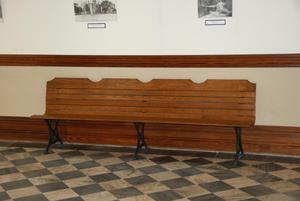 Primary view of object titled '[Bench Against Wall]'.
