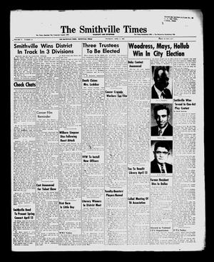 Primary view of object titled 'The Smithville Times Transcript and Enterprise (Smithville, Tex.), Vol. 71, No. 14, Ed. 1 Thursday, April 5, 1962'.