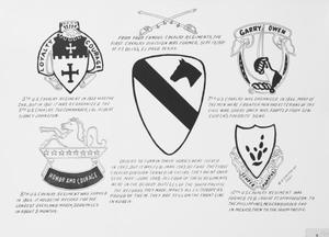 Primary view of object titled 'The four famous cavalry regiments of the First Cavalry Division. Picture'.