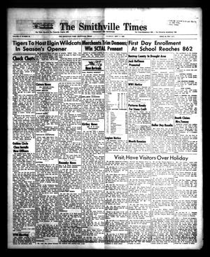 Primary view of object titled 'The Smithville Times Transcript and Enterprise (Smithville, Tex.), Vol. 72, No. 36, Ed. 1 Thursday, September 5, 1963'.
