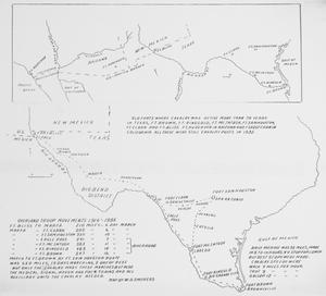 Overland troop movements, 1916-1935. Map