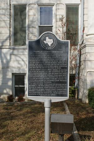 [Plaque at Franklin County Courthouse]