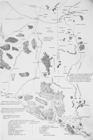 Primary view of object titled 'Supply routes to troops in the Big Bend District of Texas 1916-1920. Map'.