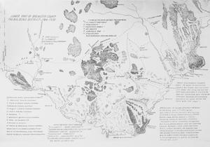 Primary view of object titled '[Map of the Lower Part of Brewster County, Texas 1916-1930]'.
