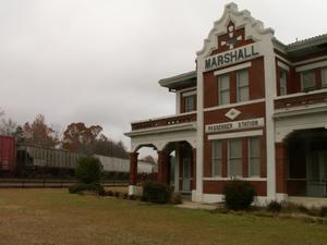 Primary view of object titled '[Marshall Passenger Station]'.