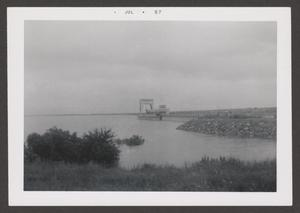Primary view of object titled '[Denison Dam Intake Stucture Filling With Extreme High Water]'.