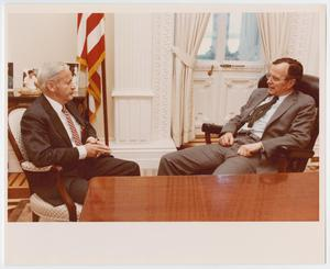 Primary view of object titled '[George H. W. Bush and Peter Stewart]'.